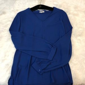 Royal Blue Pleione V Neck Tunic